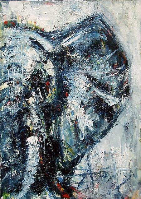 « Voir en bleu  » - huile sur toile – 92 x 65 cm
